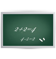 Black Board with Equations vector image