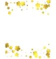 Gold glittering foil flowers on white background vector image vector image