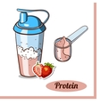 Scoop Protein Shaker Strawberry vector image