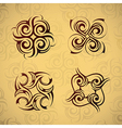 Abstract tribal design vector image