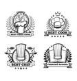 chef hat labels template for restaurant vector image