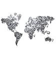 Decorative world map ornament vector image