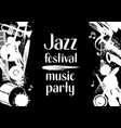 jazz festival music party grunge poster with vector image