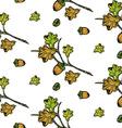 Oak pattern vector image