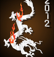 origami chinese dragon vector image