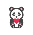 panda bear with heart vector image