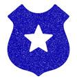 police shield icon grunge watermark vector image