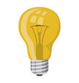 realistic colorful silhouette of light bulb icon vector image