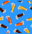 realistic detailed glasses of beer seamless vector image