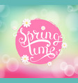 Spring time typographical background vector image