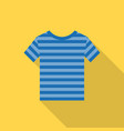 striped shirt icon with long shadow vector image
