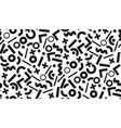 stylish memphis inspired geometric pattern vector image
