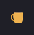 Tea cup computer symbol vector image