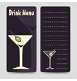 Drink menu brochure flyers template vector image