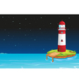 A tower in the middle of the sea vector image vector image