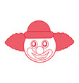 funny clown character icon vector image