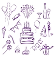 birthday party set vector image