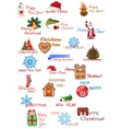 Christmas and New Year elements set vector image