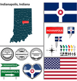 Indianapolis Indiana set vector image
