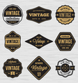 Vintage Badge Labels Sticker vector image