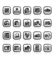 data and analytics icons vector image vector image