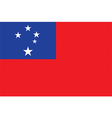 Flag of Samoa vector image