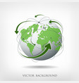 Modern green globe connections vector image