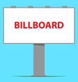 billboard board outdoor advertising vector image