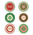 Christmas Stickers Labels Tags vector image