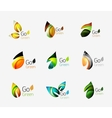 Colorful geometric nature concepts - abstract leaf vector image