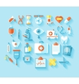 Flat medical icons set vector image
