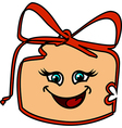Happy gift box vector image