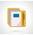 School supply flat color icon vector image
