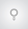 search outline symbol dark on white background vector image