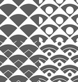 Set of Abstract Peacock Tail Seamless Pattern vector image
