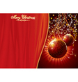 template for chrismas card vector image