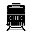 train city icon black sign vector image