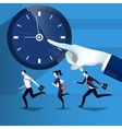 business people catching up vector image