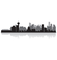 Vancouver Canada city skyline silhouette vector image vector image
