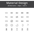material design battery line icons vector image vector image