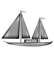 sailing ship sign icon vector image vector image