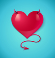 devil heart vector image vector image