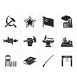 Black Communism socialism and revolution icons vector image