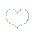 Fresh Green Leaves Forming in A Heart Shape vector image