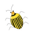 bright striped yellow beetle in the style of vector image