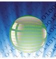 digital ball vector image