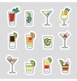 Drinks stickers set vector image