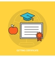 Getting certificate concept vector image