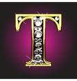 Golden figure with diamonds vector image