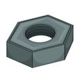 Grey nut vector image